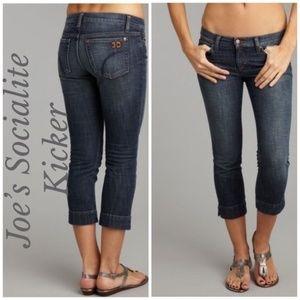 Joe's Jeans Socialite Kicker Cropped Capri Jeans